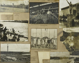 Collage of photographs from the 1928 Olympics