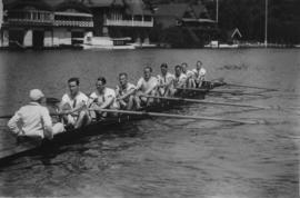 Great Britain crew in the eight at the 1928 Olympics