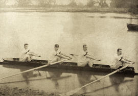 TRC crew in the 1882 match against Hillsdale