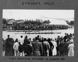 Staines 1927 - TRC beating Staines in junior eights