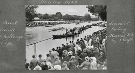 Henley 1922 - Final Grand Challenge Cup, Leander beating Thames RC by one length