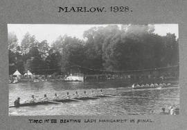 Marlow 1928 - TRC 1st VIII beating Lady Margaret in final