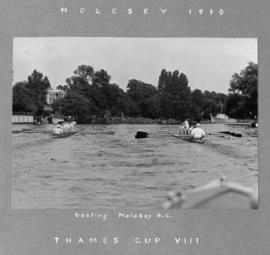 Thames Cup VIII beating Molesey BC