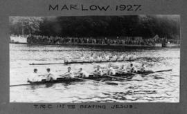 Marlow 1927 - Thames first eight beating Jesus