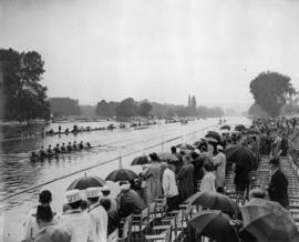 Club Krasnoe Znamia, USSR crew beating Thames Rowing Club by 4 lengths