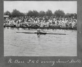Molesey 1922 - R Bare winning junior sculls