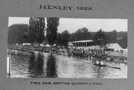Henley 1928 - TRC pair beating Quintin in final
