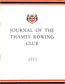 Journal of the Thames Rowing Club 1971