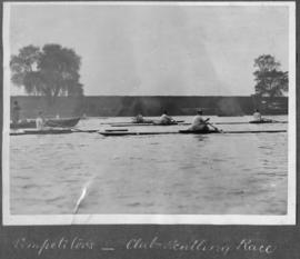 TRC Regatta 1922 - competitors, club sculling race