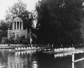 Henley 1948 - Final of the Grand, end of Temple Island