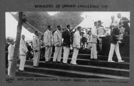 Henley 1927 - Grand Challenge Cup, TRC receiving trophy and medals