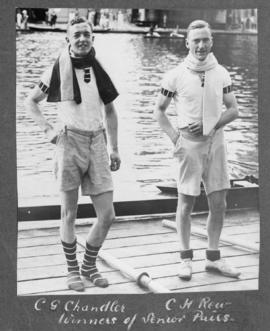 Marlow 1924 - C G Chandler and C H Rew, winners of senior pairs
