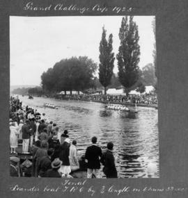 Henley 1925 - Grand Challenge Cup final, Leander beat TRC by 3/4 length