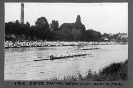 Molesey 1927 - TRC second eight beating Westminster Bank in final