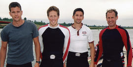 Coxless four at the Metropolitan Regatta