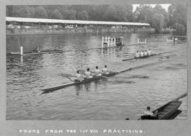 Fours from the first VIII practising