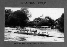 Staines 1927 - TRC first eight beating LRC