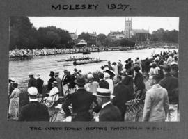 Molesey 1927 - TRC junior seniors beating Twickenham in final