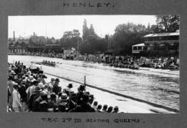 Henley 1926 - TRC second eight beating Queens'