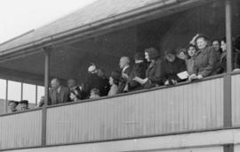 Princess Elizabeth and others watch the Head of the River Race from the TRC balcony