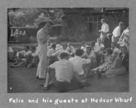 Felix and his guests at Hedsor Wharf