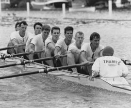 Henley 1988 - TRC crew in the Thames Cup