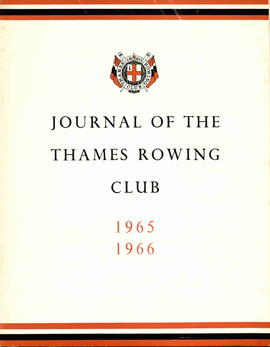 Journal of the Thames Rowing Club 1965-1966