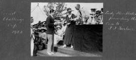 Henley 1923 - Lady Hambleden presenting S I Fairbairn with the Grand Challenge Cup