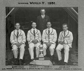Henley 1931 Wyfold posing with trophy