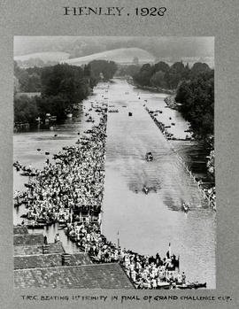 Henley 1928 - TRC beating 1st Trinity in final of Grand Challenge Cup