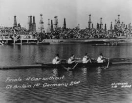 Coxless Four at 1932 Olympic Games - Great Britain beating Germany