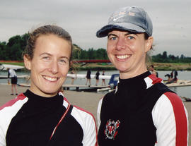 Jo Ganley and Katrina Lythgoe at the Metropolitan Regatta