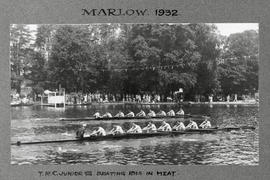 Marlow 1932 junior eight TRC beating Ibis