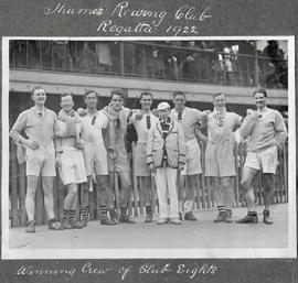TRC Regatta 1922 - winning crew of club eights