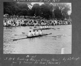 Henley 1925 - Wyfold final, TRC beating Selwyn by 1 1/4 length in 7m 35s (record)
