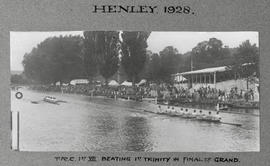 Henley 1928 - TRC 1st VIII beating 1st Trinity in final of Grand