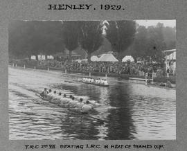 Henley 1929 Thames Cup TRC beating LRC