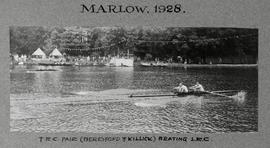 Marlow 1928 - TRC pair (Beresford & Killick) beating LRC