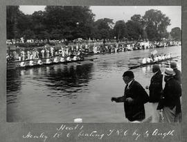 Henley 1925 - Thames Cup heat, Henley RC beating TRC by 1/3 length