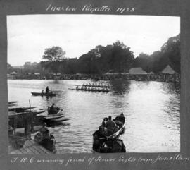 Marlow 1925 - TRC winning final of senior eights from Jesus Cambridge