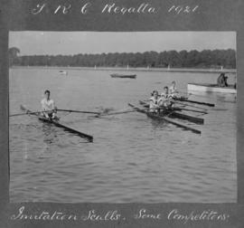 TRC Regatta 1921 - invitation sculls, some competitors