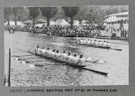 Henley 1930 Thames Cup Vesta beating TRC