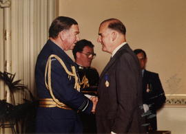 George Parlby receiving the Medal of the Order of Australia