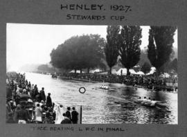 Henley 1927 - Stewards' Cup, TRC beating LRC in final