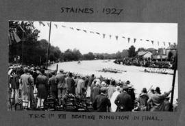 Staines 1927 - TRC first eight beating Kingston in final