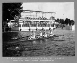 Stewards' IV practising at Henley
