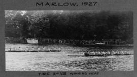 Marlow 1927 - TRC second eight winning heat