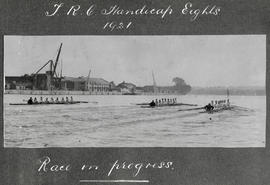 TRC Handicap Eights 1921 - race in progress