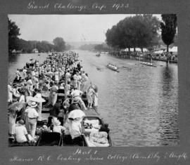 Henley 1925 - Grand Challenge Cup, TRC beating Jesus Cambridge by 1/2 length