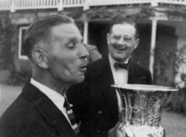 Ian Fairbairn and Dick enjoying the fruits of victory
